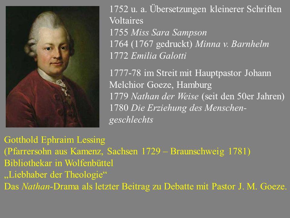 1752 u. a. Übersetzungen kleinerer Schriften Voltaires