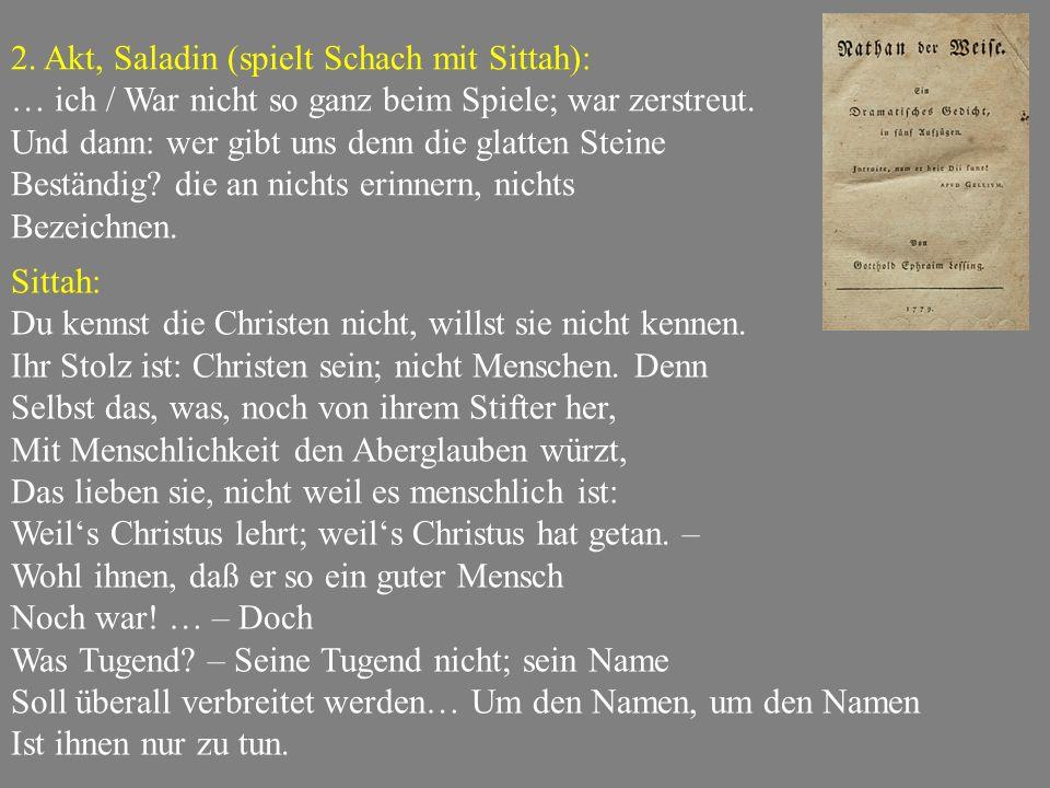 2. Akt, Saladin (spielt Schach mit Sittah):