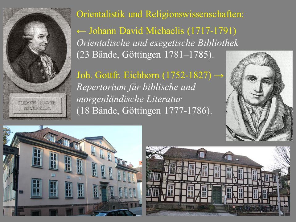 Orientalistik und Religionswissenschaften: