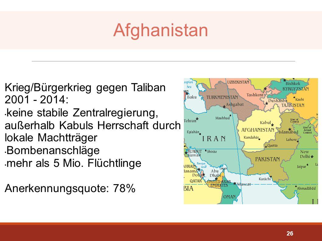 Afghanistan Krieg/Bürgerkrieg gegen Taliban 2001 - 2014: