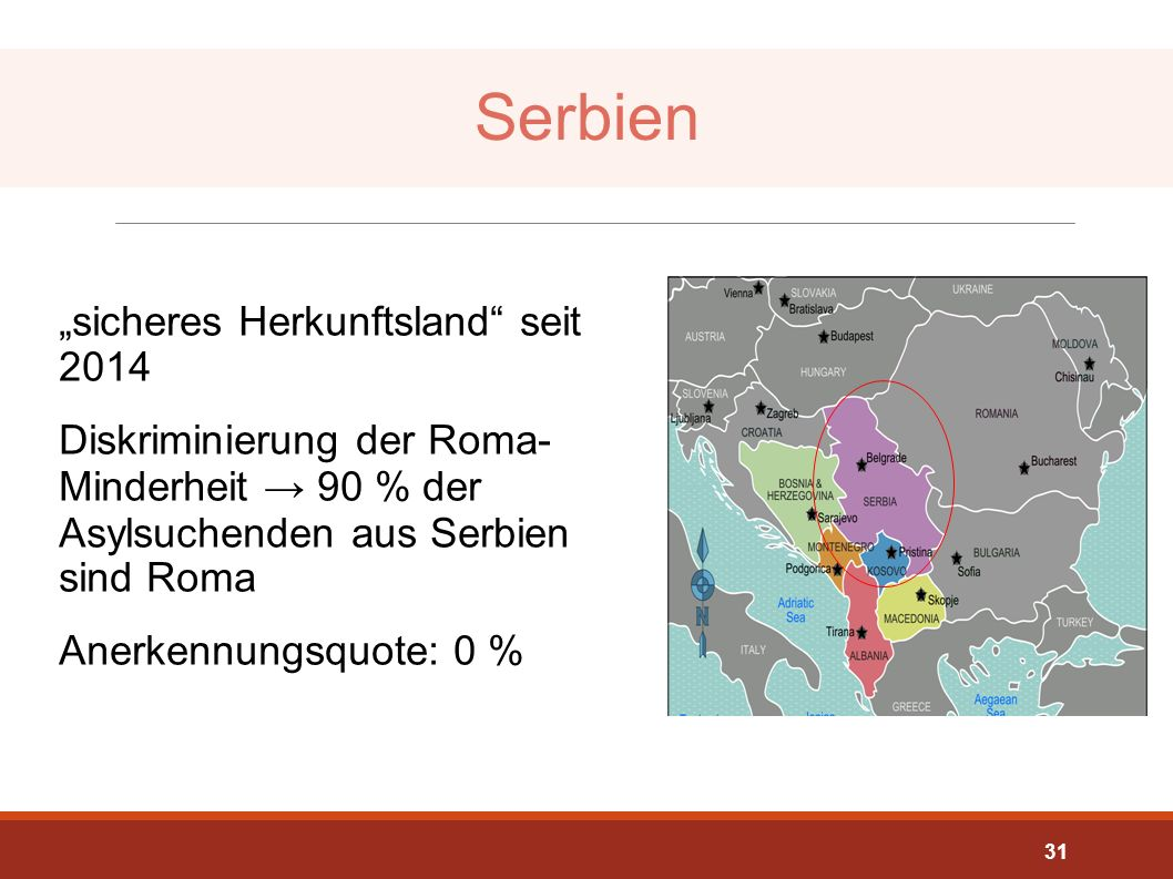"""Serbien """"sicheres Herkunftsland seit 2014"""
