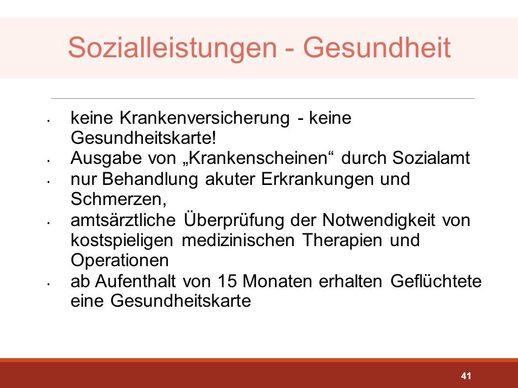 Sozialleistungen - Gesundheit