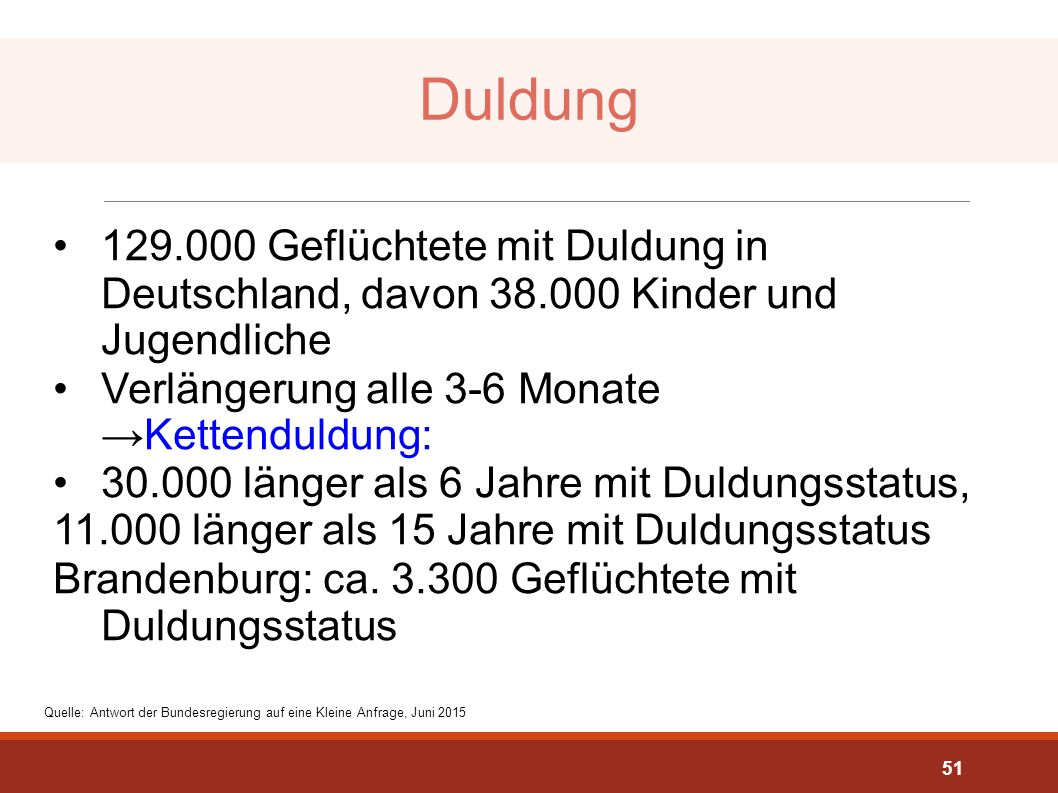 Duldung Quelle: http://dip21.bundestag.de/dip21/btd/18/058/1805862.pdf.