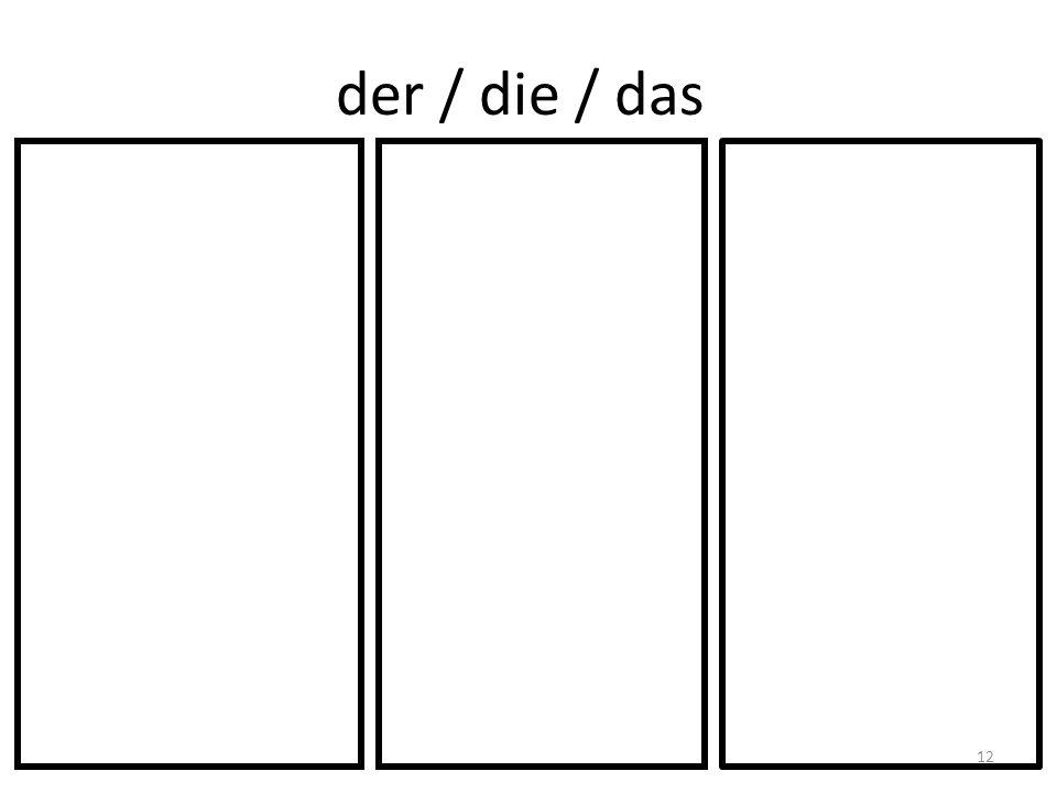 der / die / das