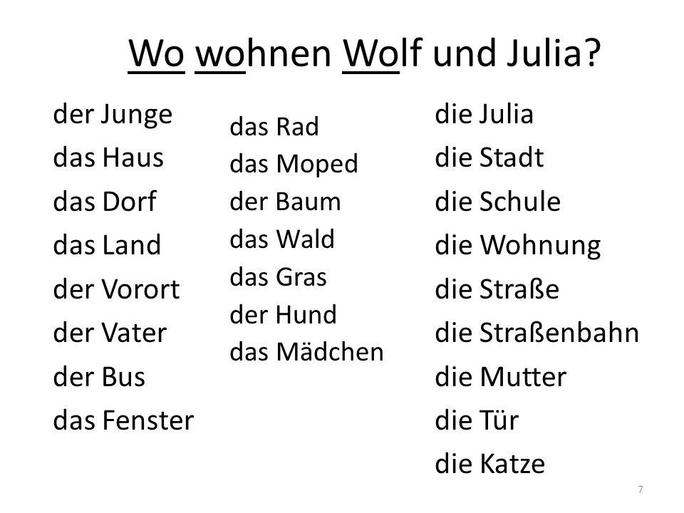Wo wohnen Wolf und Julia