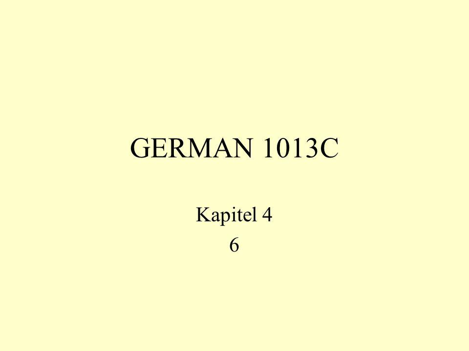 GERMAN 1013C Kapitel 4 6