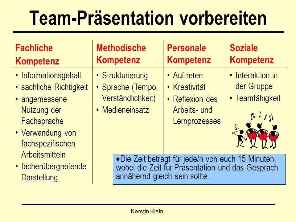 Team-Präsentation vorbereiten