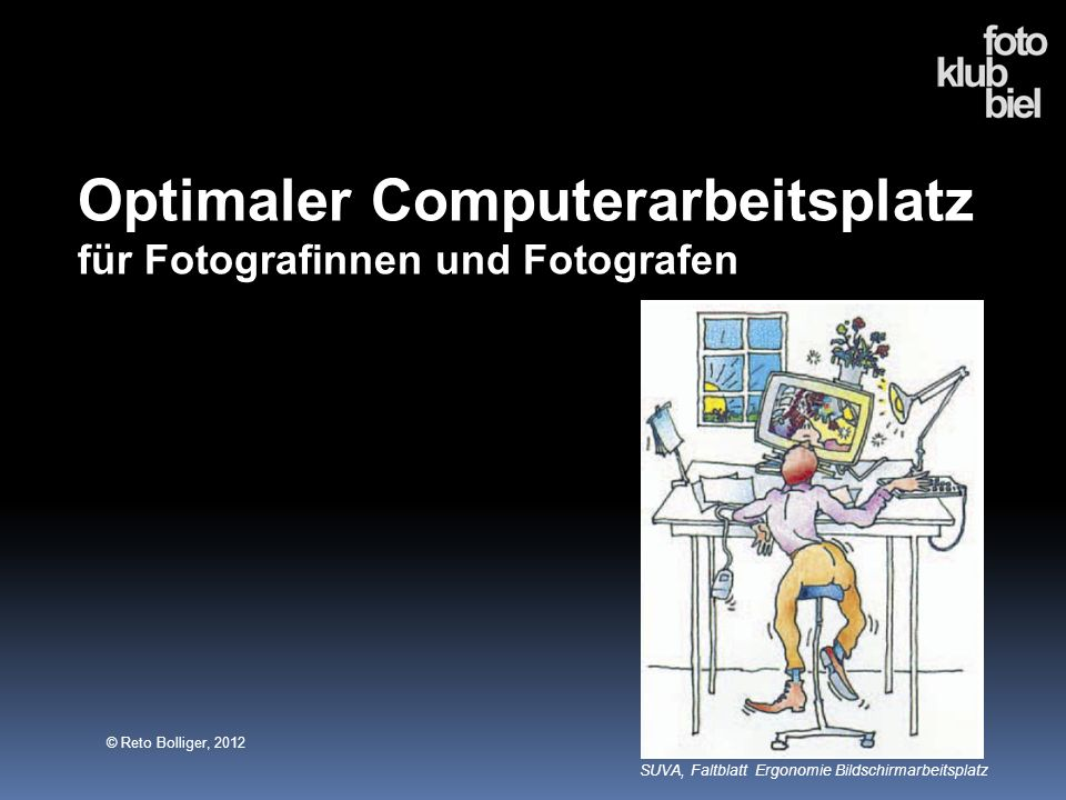 Optimaler Computerarbeitsplatz