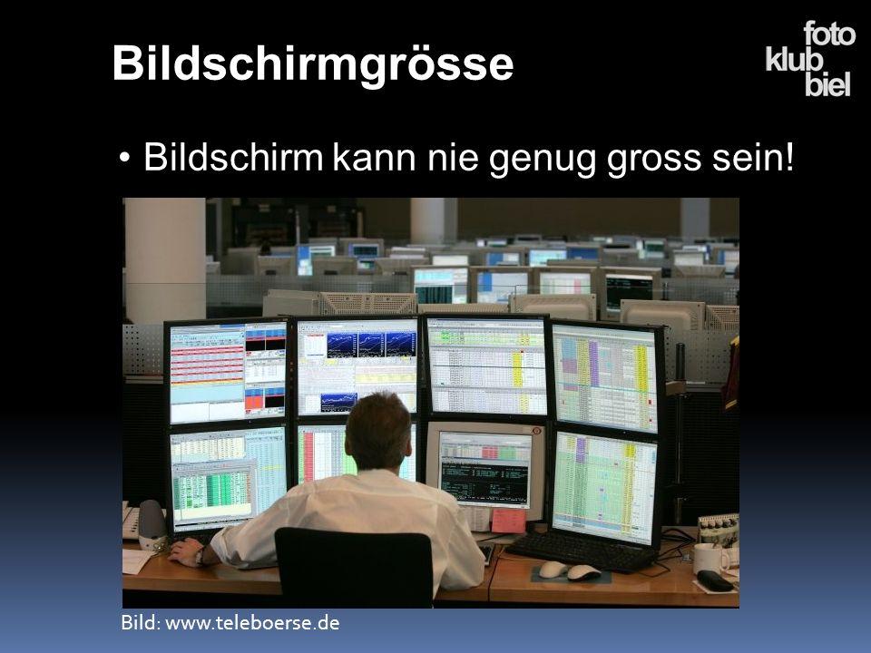 Bildschirmgrösse Bildschirm kann nie genug gross sein!