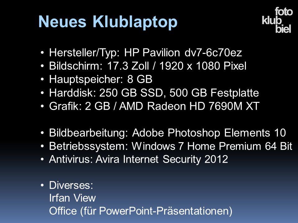 Neues Klublaptop Hersteller/Typ: HP Pavilion dv7-6c70ez