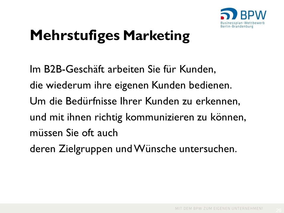 Mehrstufiges Marketing