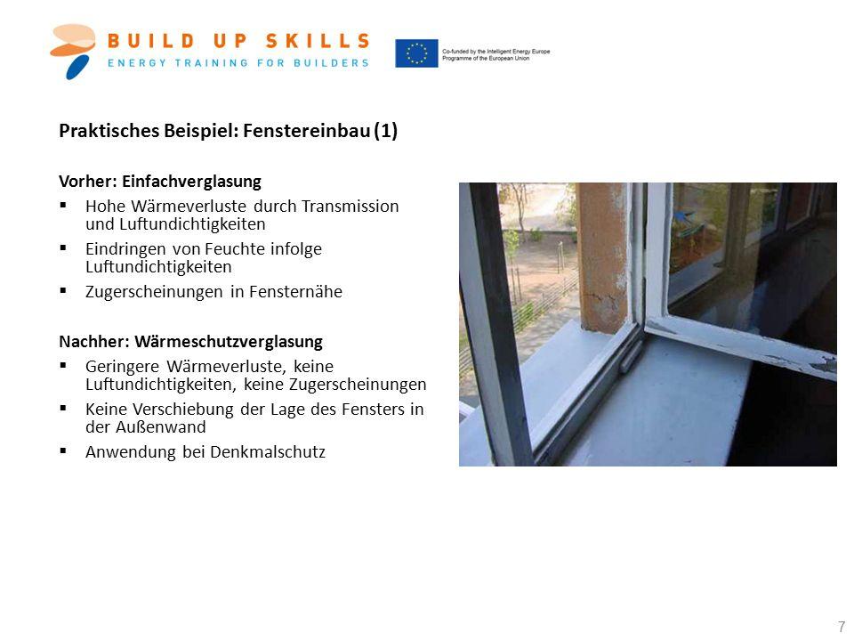 Praktisches Beispiel: Fenstereinbau (1)