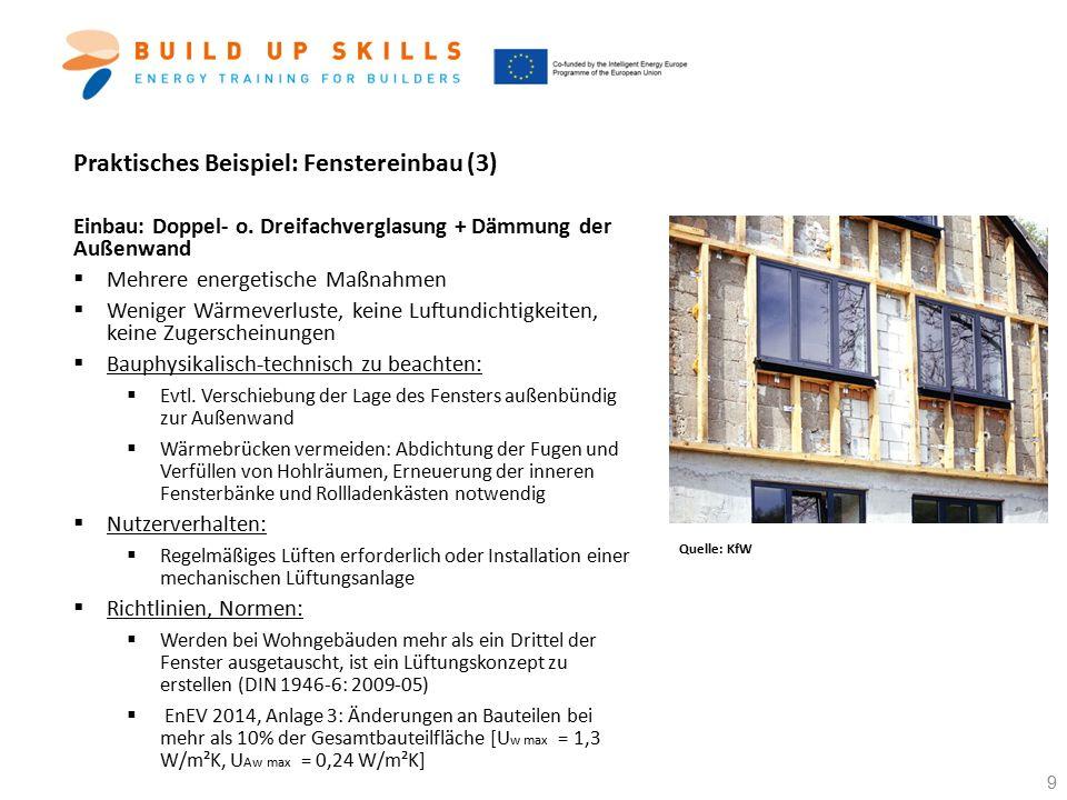 Praktisches Beispiel: Fenstereinbau (3)