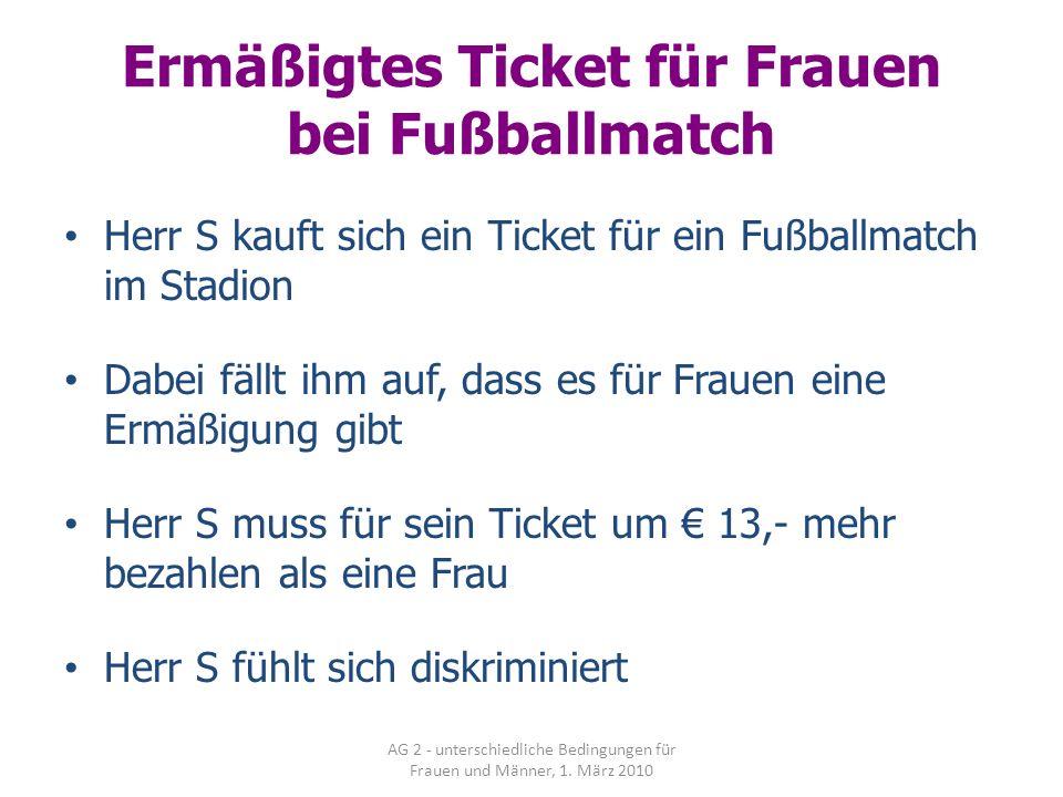 Ermäßigtes Ticket für Frauen bei Fußballmatch