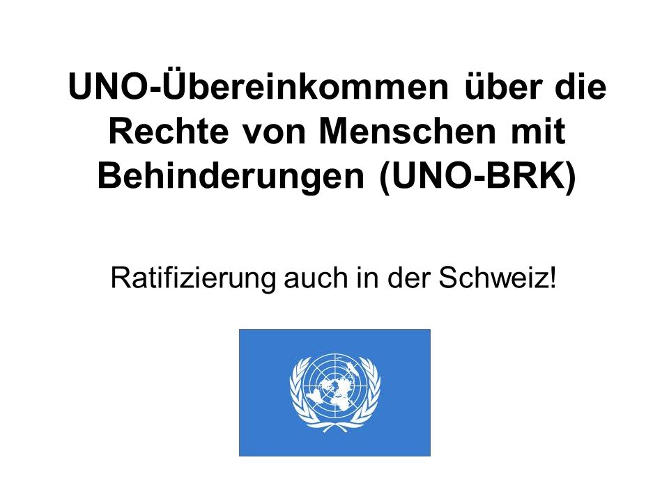 Ratifizierung auch in der Schweiz!