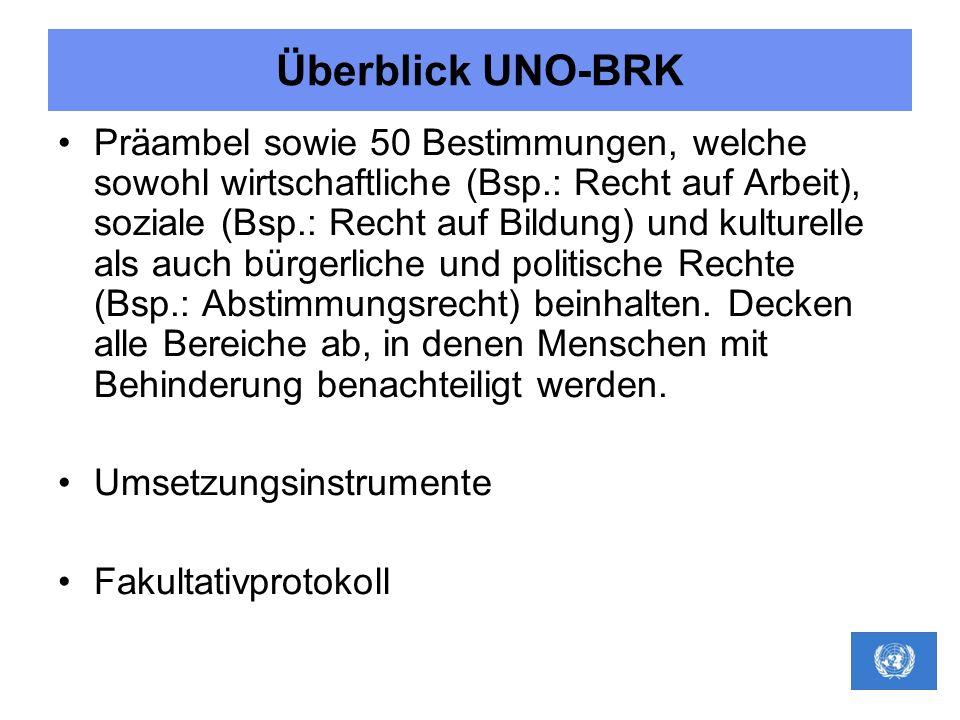 Überblick UNO-BRK