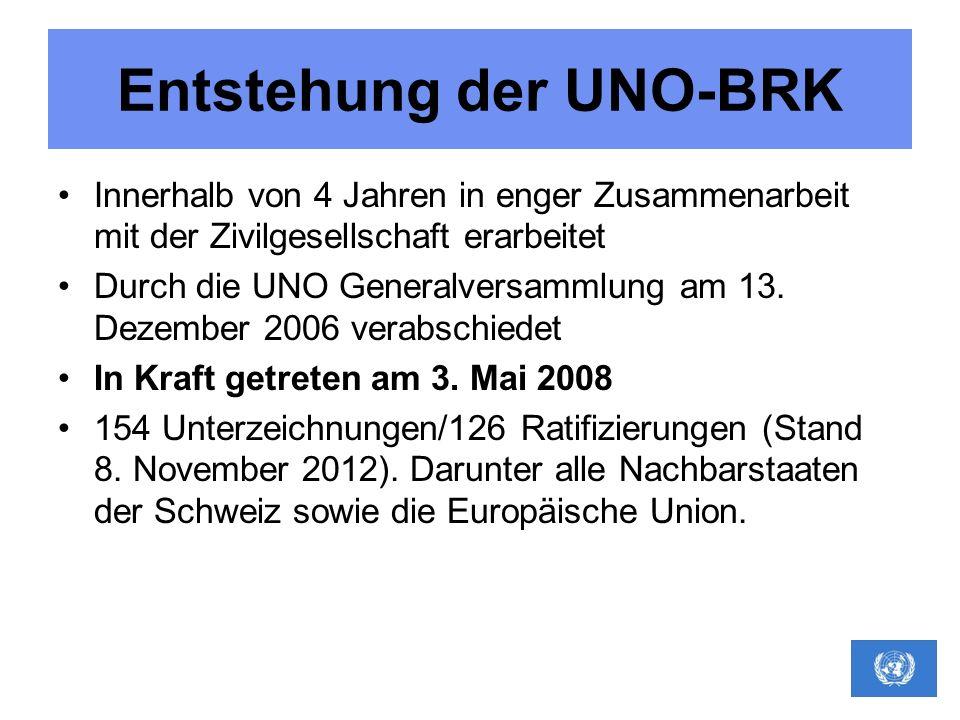 Entstehung der UNO-BRK