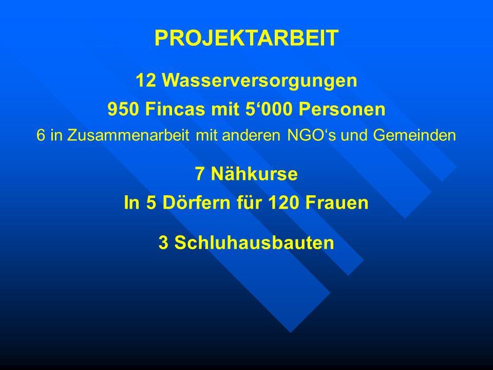 6 in Zusammenarbeit mit anderen NGO's und Gemeinden