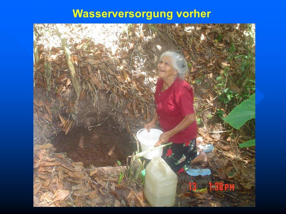 Wasserversorgung vorher