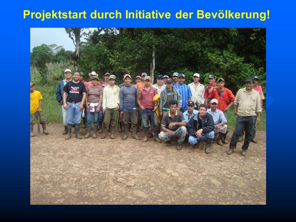 Projektstart durch Initiative der Bevölkerung!