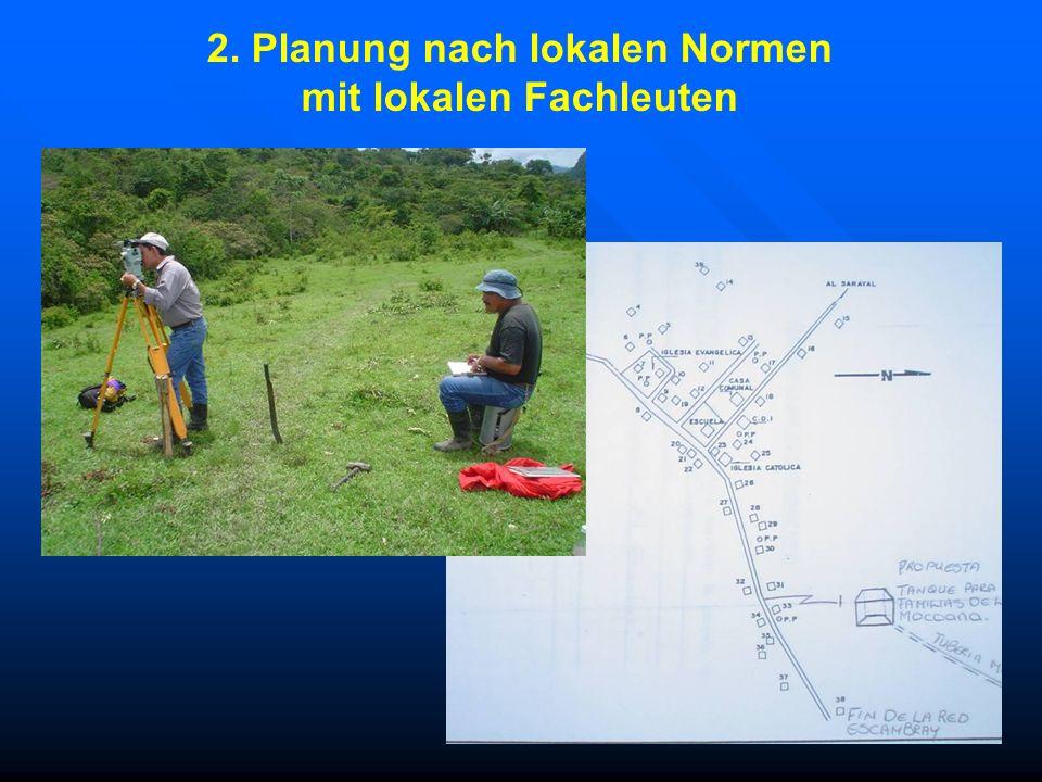 2. Planung nach lokalen Normen mit lokalen Fachleuten