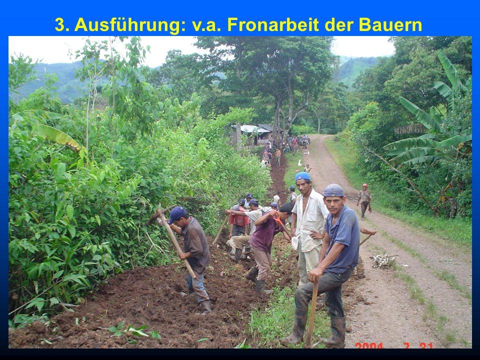 3. Ausführung: v.a. Fronarbeit der Bauern