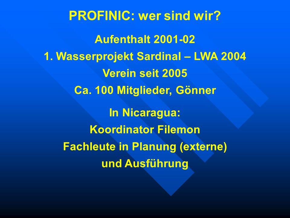 1. Wasserprojekt Sardinal – LWA 2004 Fachleute in Planung (externe)