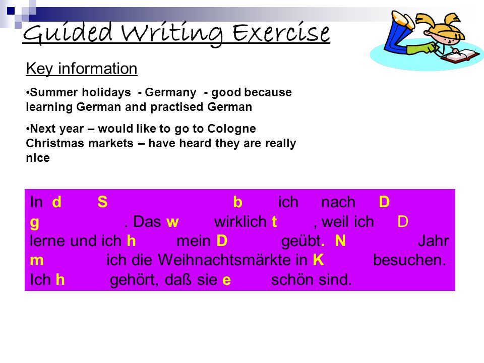 Guided Writing Exercise