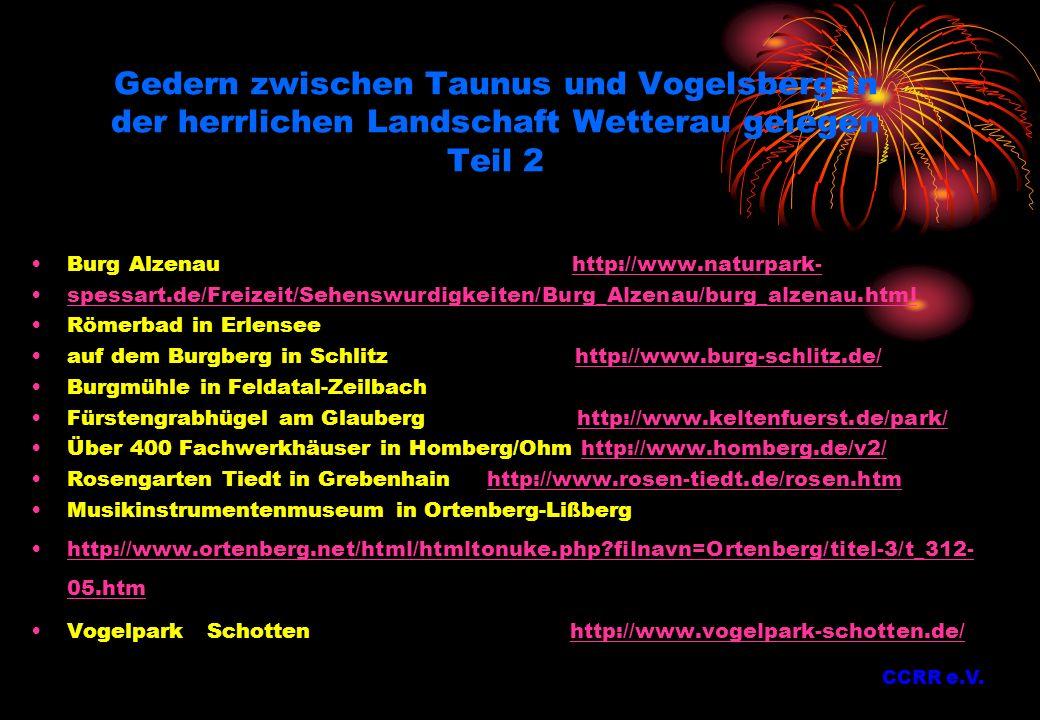 Gedern zwischen Taunus und Vogelsberg in der herrlichen Landschaft Wetterau gelegen Teil 2