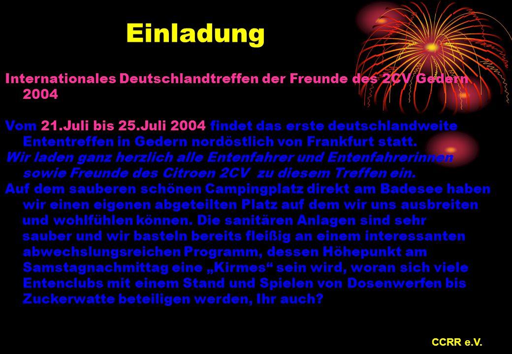Einladung Internationales Deutschlandtreffen der Freunde des 2CV Gedern 2004.
