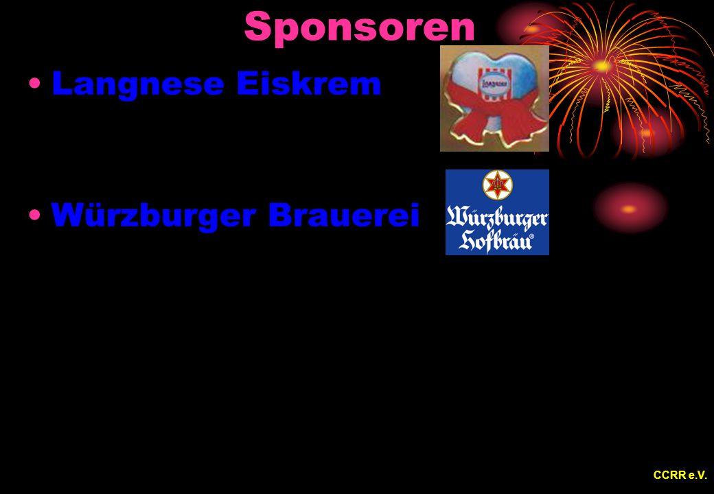 Sponsoren Langnese Eiskrem Würzburger Brauerei CCRR e.V.