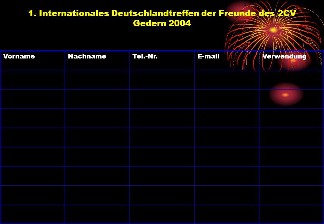 1. Internationales Deutschlandtreffen der Freunde des 2CV Gedern 2004