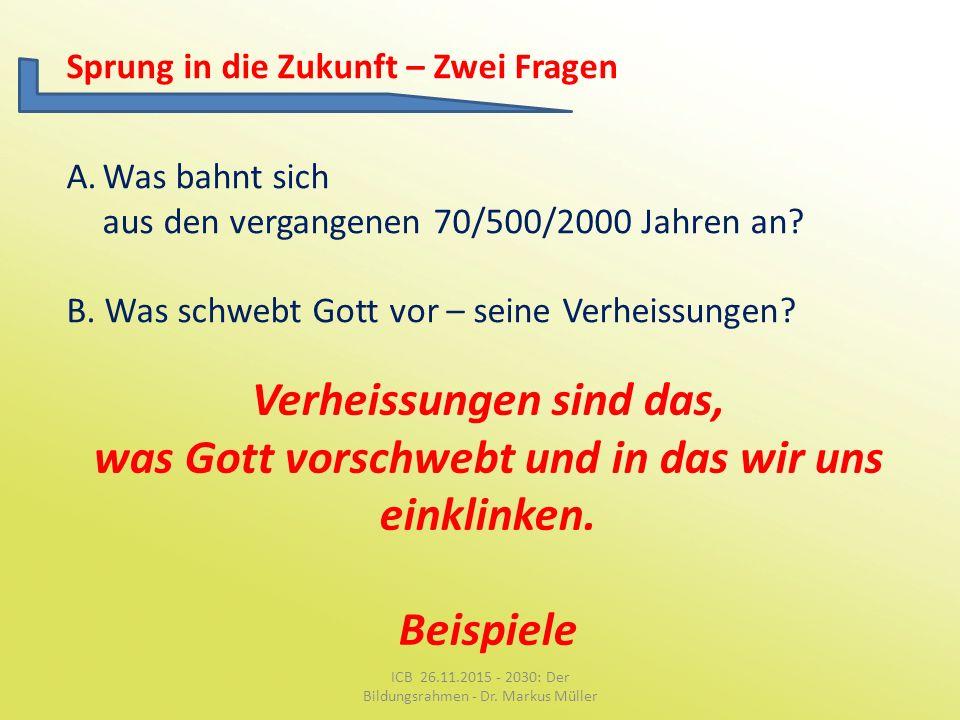 ICB 26.11.2015 - 2030: Der Bildungsrahmen - Dr. Markus Müller