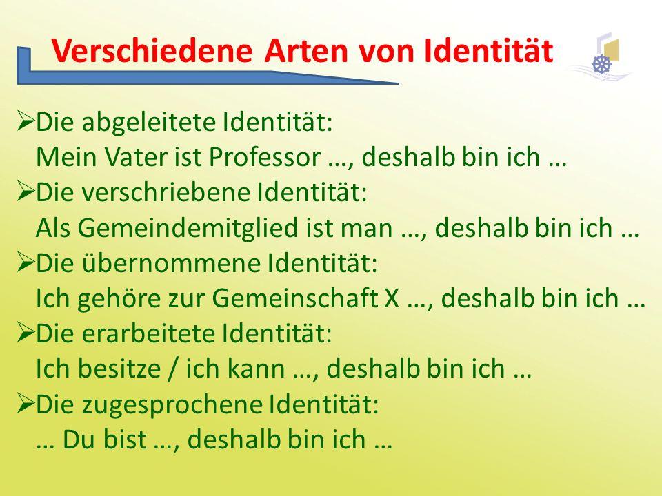 Verschiedene Arten von Identität