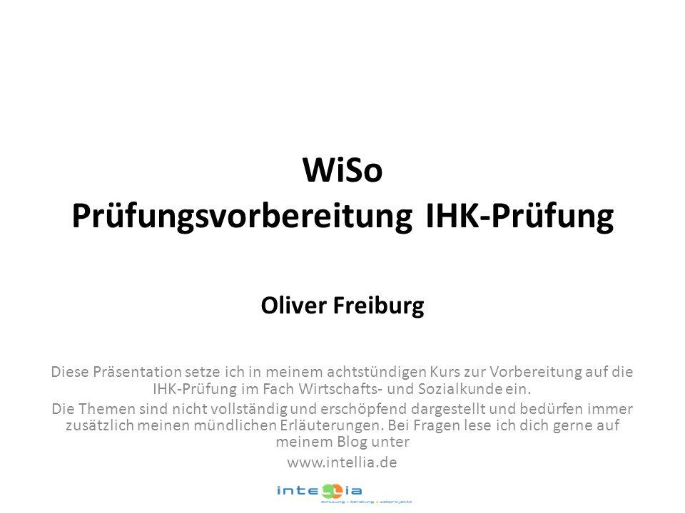 WiSo Prüfungsvorbereitung IHK-Prüfung