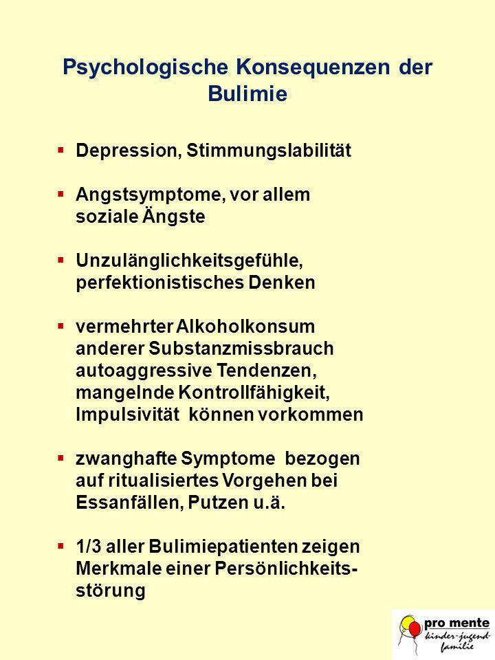 Psychologische Konsequenzen der Bulimie
