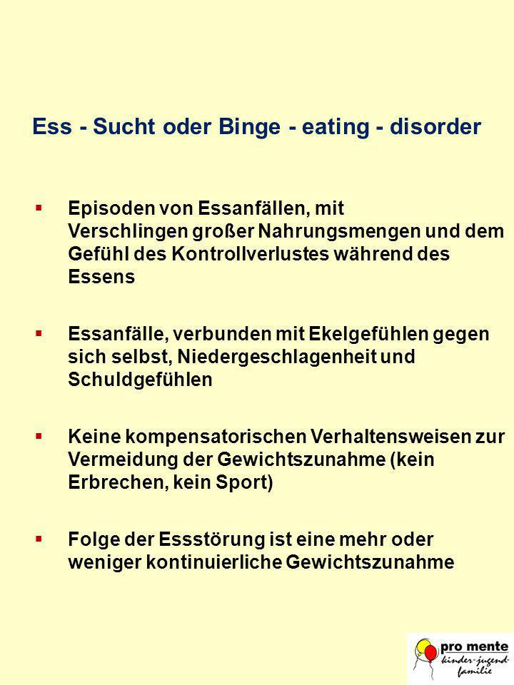 Ess - Sucht oder Binge - eating - disorder