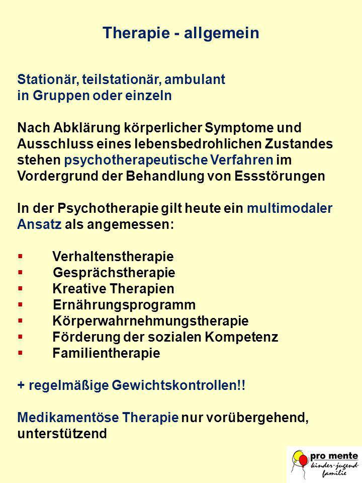 Therapie - allgemein Stationär, teilstationär, ambulant