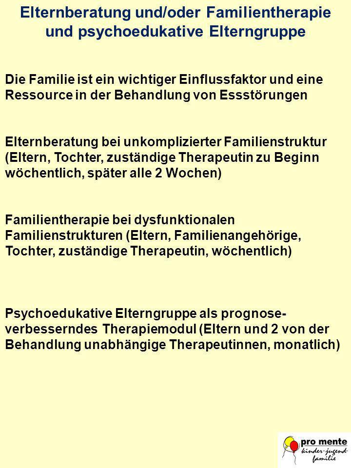 Elternberatung und/oder Familientherapie