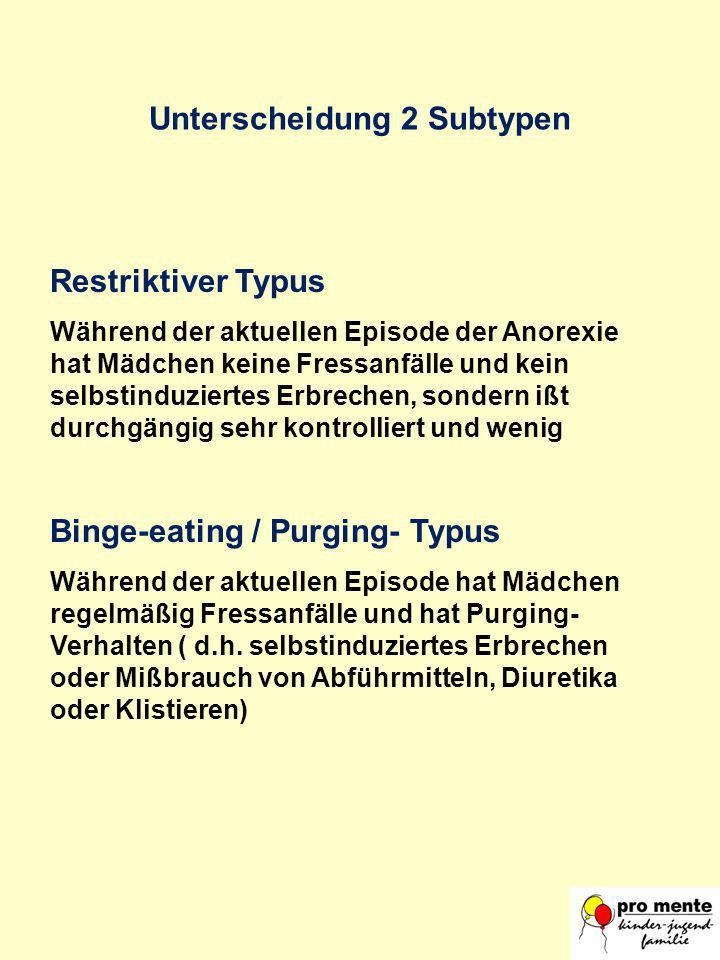 Unterscheidung 2 Subtypen