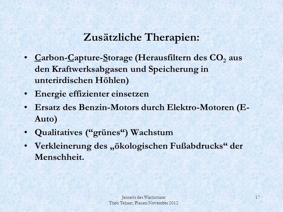 Zusätzliche Therapien: