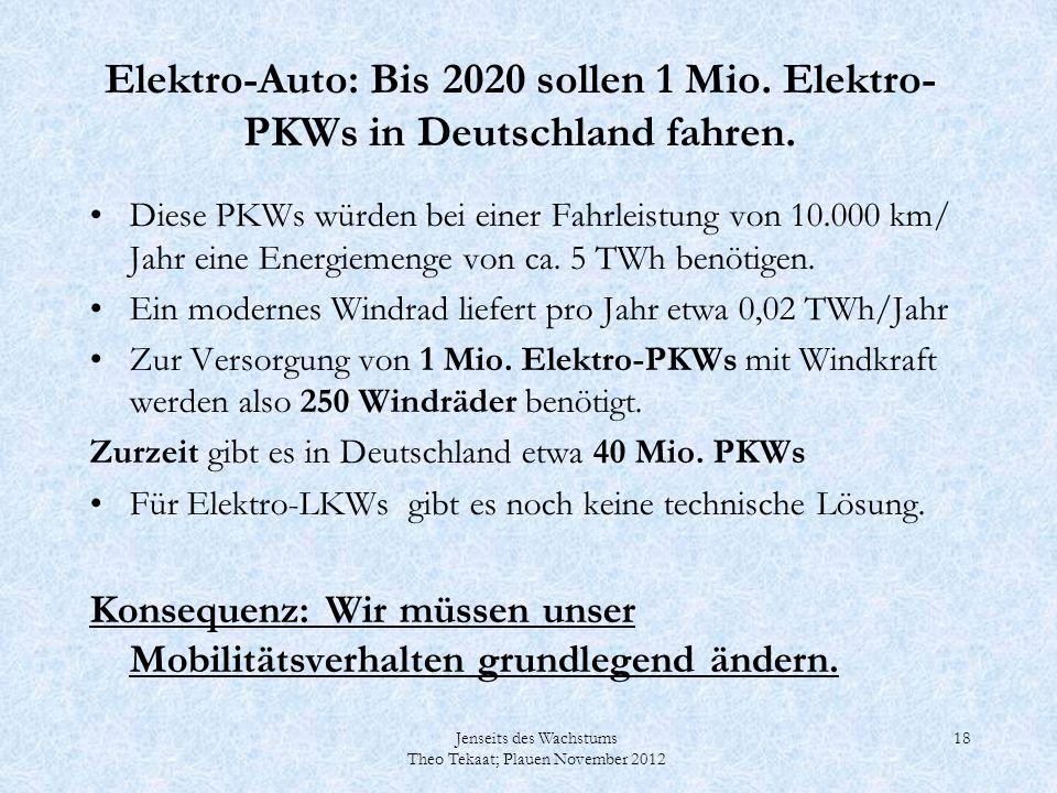 Elektro-Auto: Bis 2020 sollen 1 Mio. Elektro-PKWs in Deutschland fahren.