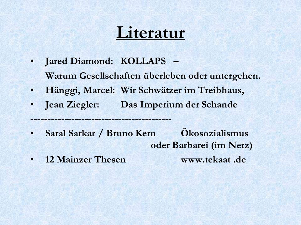 Literatur Jared Diamond: KOLLAPS –