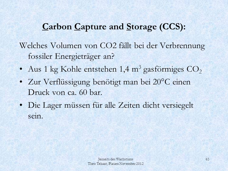 Carbon Capture and Storage (CCS):