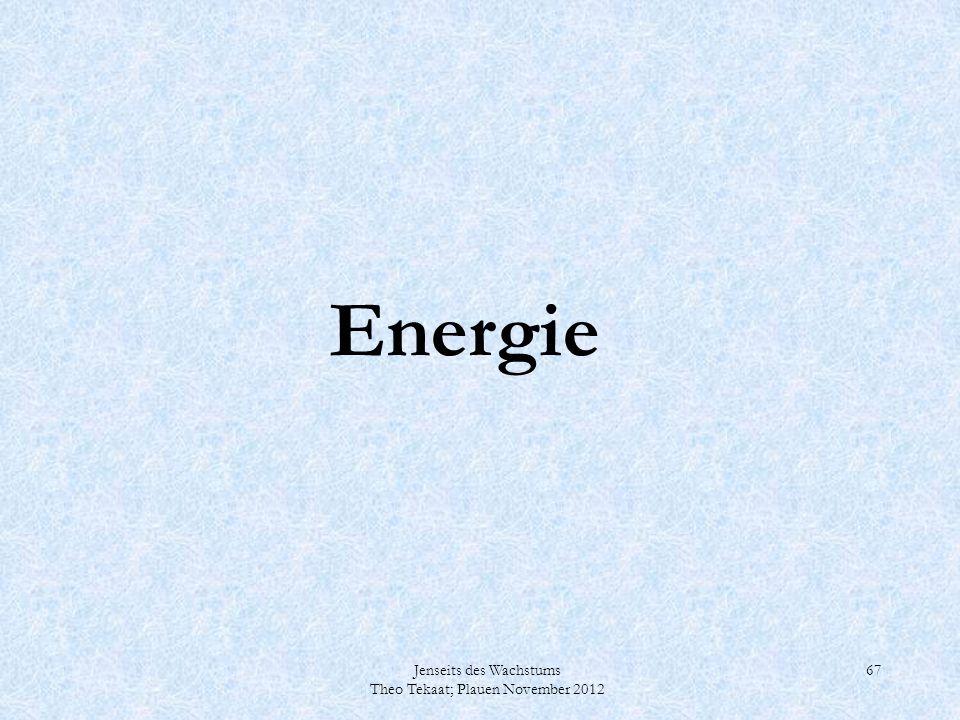 Energie Jenseits des Wachstums Theo Tekaat; Plauen November 2012