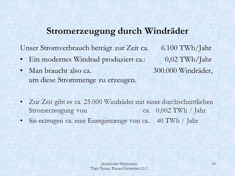 Stromerzeugung durch Windräder