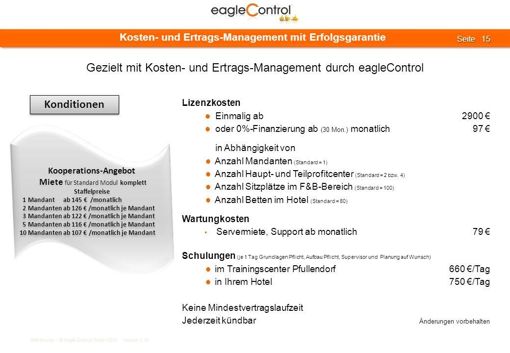 Gezielt mit Kosten- und Ertrags-Management durch eagleControl
