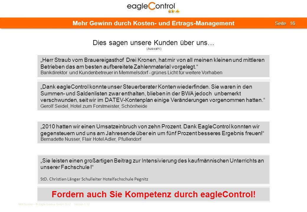 Fordern auch Sie Kompetenz durch eagleControl!