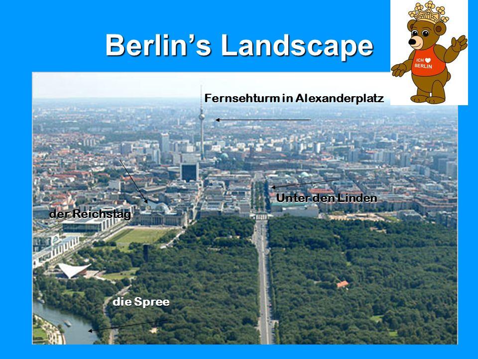 Berlin's Landscape Fernsehturm in Alexanderplatz Unter den Linden