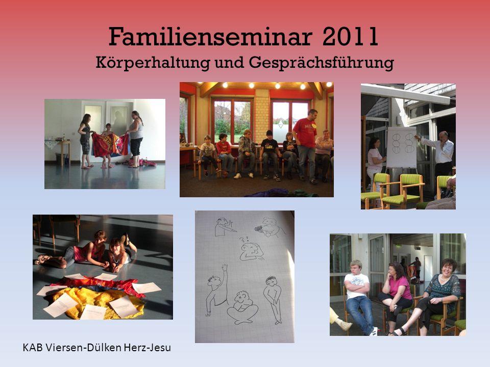 Familienseminar 2011 Körperhaltung und Gesprächsführung